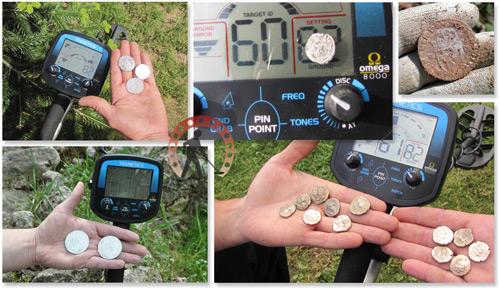 Tesoros encontrados con un detector de metales Teknetics omega 8000