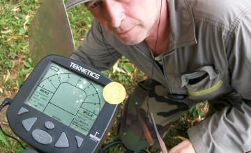 moneda encontrada con detector de metales gamma-6000